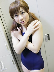Aiko undress her swimsuite and shows young body