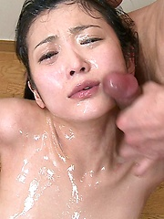Asian men loads cum on innocent girl face