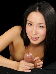 Anna Sakura doing handjob for lucky guy