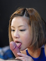 Japanese girl Kana Endo sucking a cocks