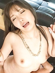 Haruka Oosawa Asian sucks two dicks while getting vibrators