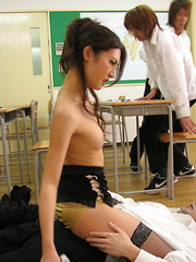 After fucking students Julia Nanase gets cum.