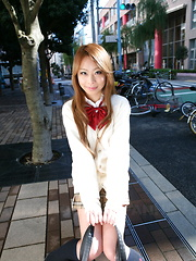 Cute Remika Uehara likes to be photographed