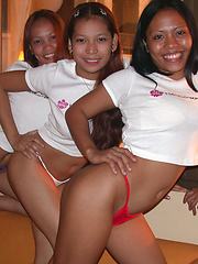 Three Filipina coeds have foursome with lucky tourist