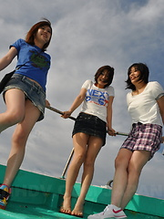 Hot fun with Hinata and other Japanese girls