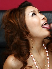 Japanese girl giving head